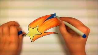 Learn How to Draw An Easy Shooting Star -- iCanHazDraw!