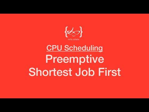 Preemptive Shortest Job First (SRTF) - CPU Scheduling