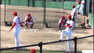 2010.8.22 松田翔太投手のボールの軌道.