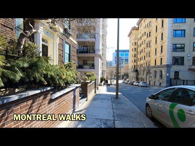 Montreal Walks Downtown Side Streets - Simpson & Mackay Street - March 2021