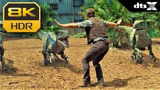 8K HDR • Chris Pratt vs. Dinosaurs - Jurassic World ᵈᵗˢ⁻ʰᵈ