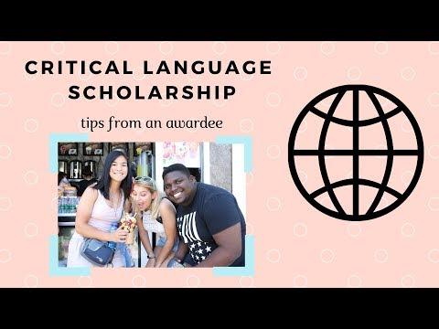 Critical Language Scholarship Application    WINNER!