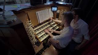 Stops to manual: Organ recital rehearsal at Salisbury Cathedral