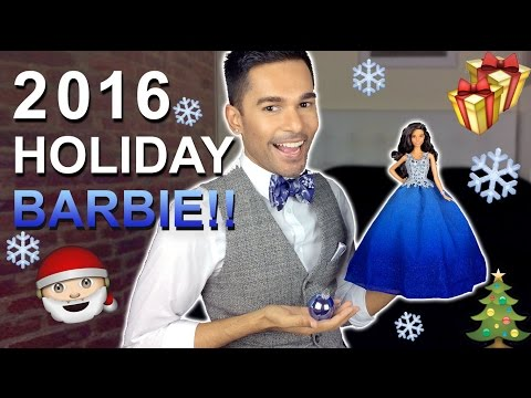 2016 HOLIDAY Barbie Doll - Blue Dress - Barbie Collector - Review