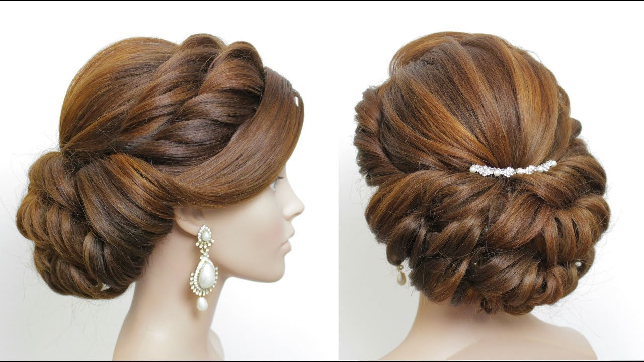 new bridal hairstyle for girls. wedding updo. hair tutorial