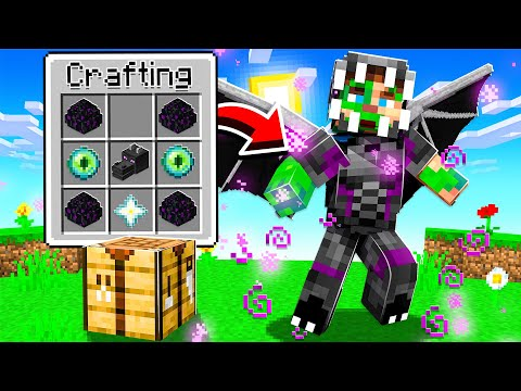 CRAFTING ENDER DRAGON ARMOR AND WEAPONS IN MINECRAFT!