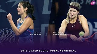 Julia Goerges vs. Eugenie Bouchard | 2018 Luxembourg Open Semifinal | WTA Highlights