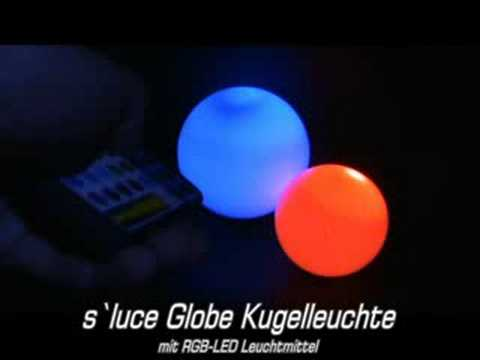 licht design skapetze s luce globe kugel farbwechsler youtube. Black Bedroom Furniture Sets. Home Design Ideas