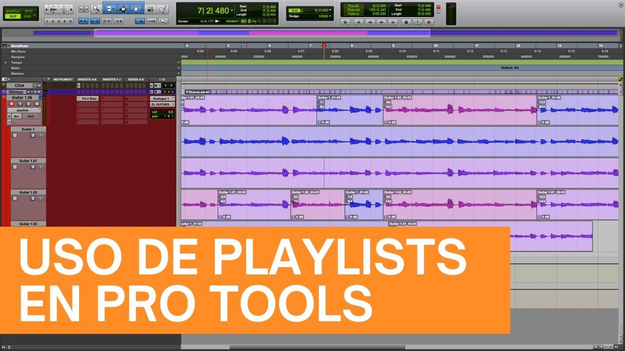 Cómo usar playlists en Pro Tools