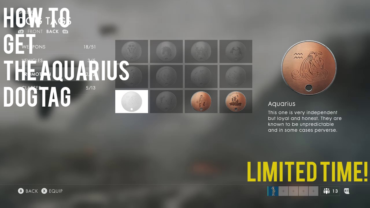 How to get the Aquarius Dog Tag in Battlefield 1 LIMITED TIME