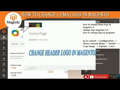 how to change luma logo in magento 2 || how to change header image in magento || magento tutorial