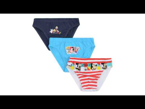 Wholesale Official Mickey Mouse Three Pack Of Briefs Mixed 2-8 Years