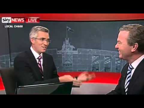 Chris Pyne and David Speers - Satire is dead
