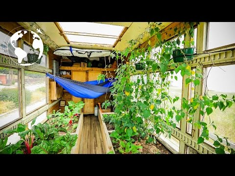 Box Truck Converted into Sustainable Mobile Greenhouse