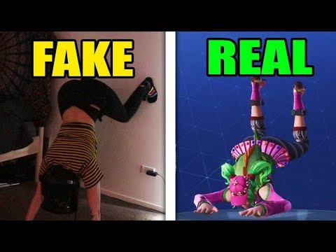 FAKE or REAL (leg trackers) FORTNITE DANCES in VRCHAT