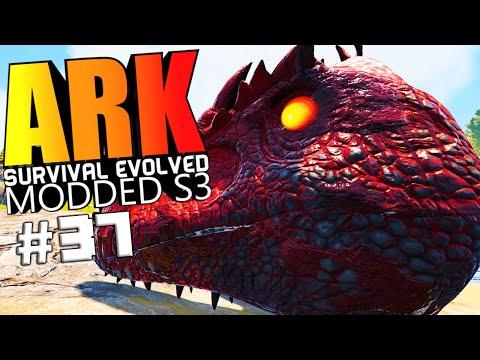 ARK Survival Evolved - BIONIC DRAGON & WYVERN, ALPHA GIGA VS WARDEN Modded #37 (ARK Mods Gameplay)