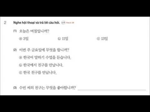 Tieng Han tong hop so cap 1 bai nghe unit 4