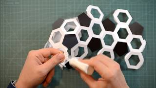 Как сделать многогранник футбольный мяч? How to make a polyhedron soccer ball?