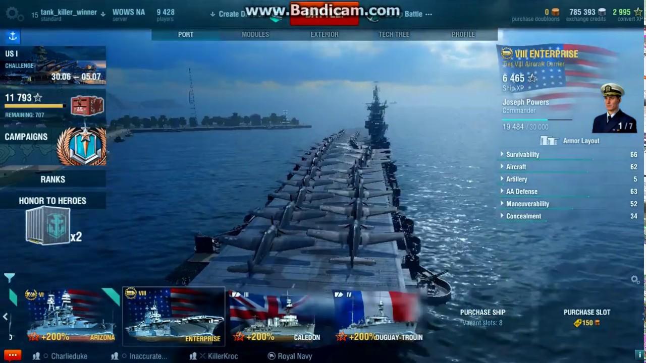 world of warships uss enterprise cv 6 the gray ghost i ep