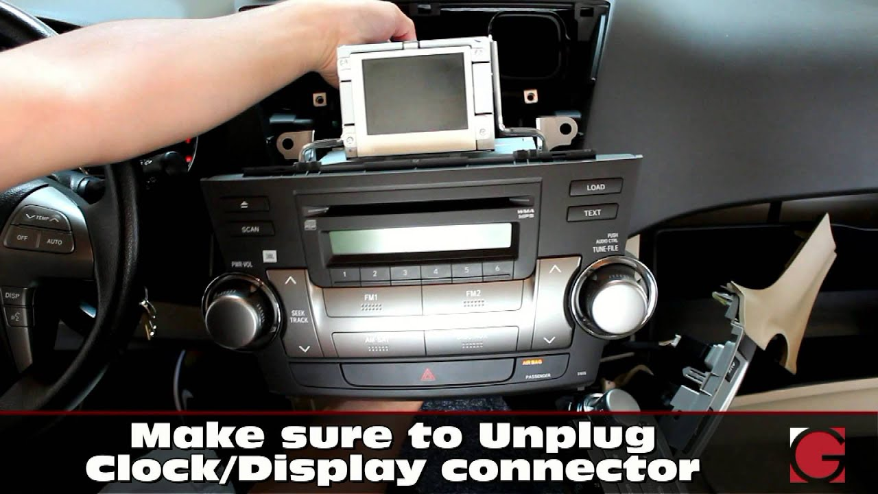 Toyota Highlander 2007-2012 GROM Android iPhone USB Bluetooth Car Kit  Install, stereo removal guide