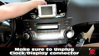 toyota highlander 2007 2012 grom android iphone usb bluetooth car kit install stereo removal guide