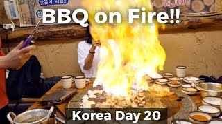 WOW! Flaming Pork Belly on a Hot Stone! (Day 20)