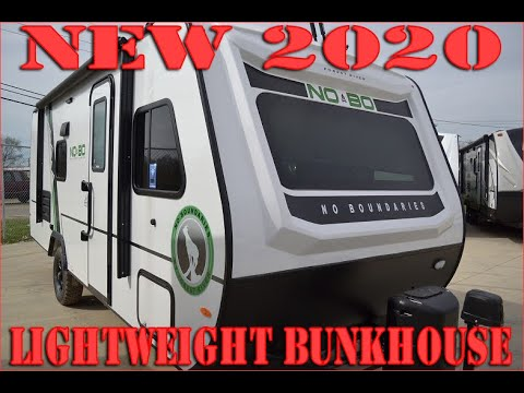 Best Bunkhouse Travel Trailer 2020 2020 No Boundaries 19.7 Bunk Model Trailer by Forestriver at