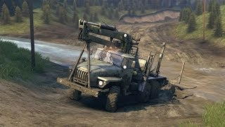 Игра SPINTIRES   Гонки на грузовиках Трейлер