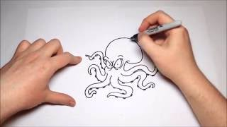 HOW TO DRAW A SCARY OCTOPUS