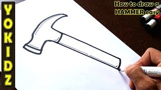 How to draw a HAMMER easy