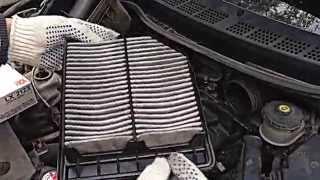 Замена воздушного фильтра хонда цивик honda civic 4d (how to replace air filter) www.dfcars.ru
