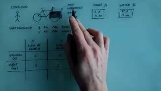 Lineær programmering Anvendelse del 1