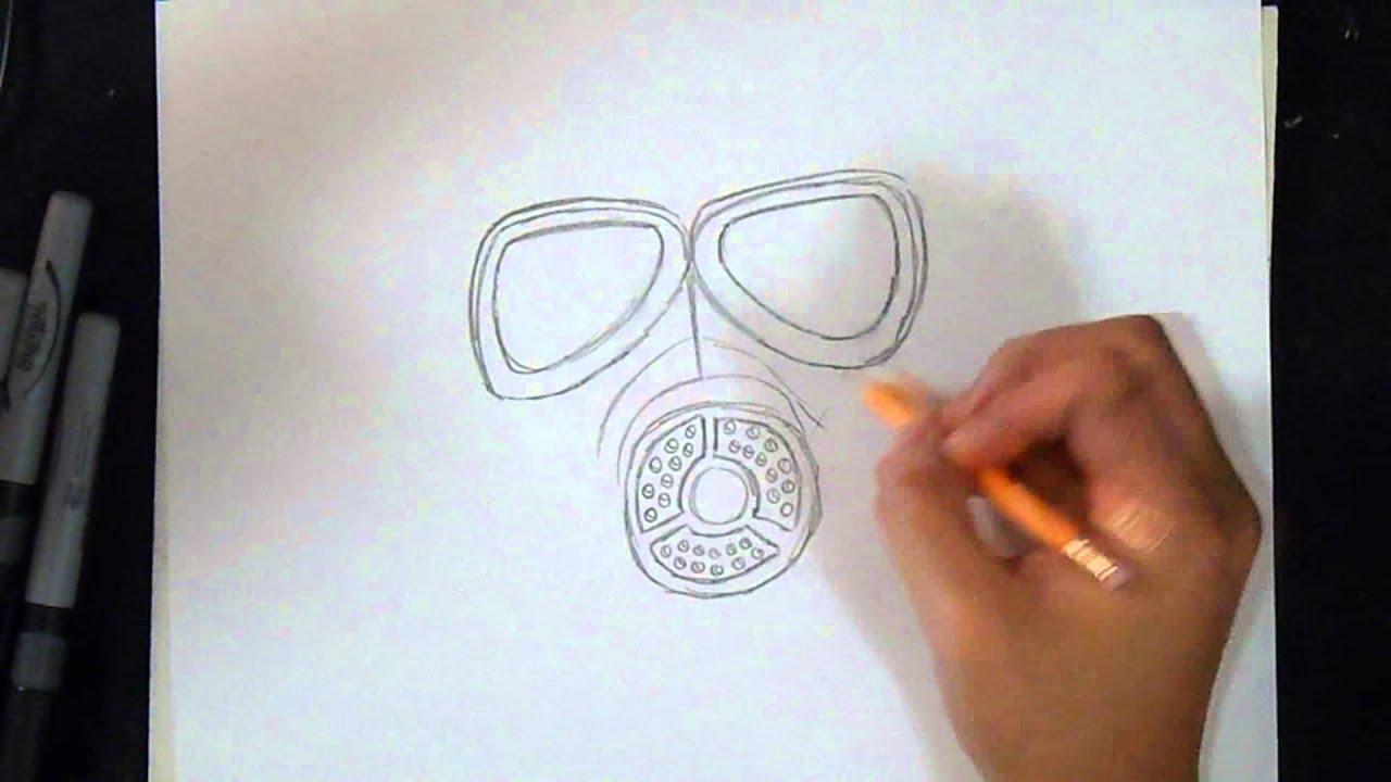 Cómo dibujar Mascara de Gas Soviética