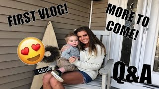 FIRST VLOG/ Q&A!!! Welcome to my channel :)