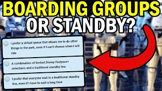 Boarding Groups OR Standby? | NEW SURVEY For Rise of the Resistance!