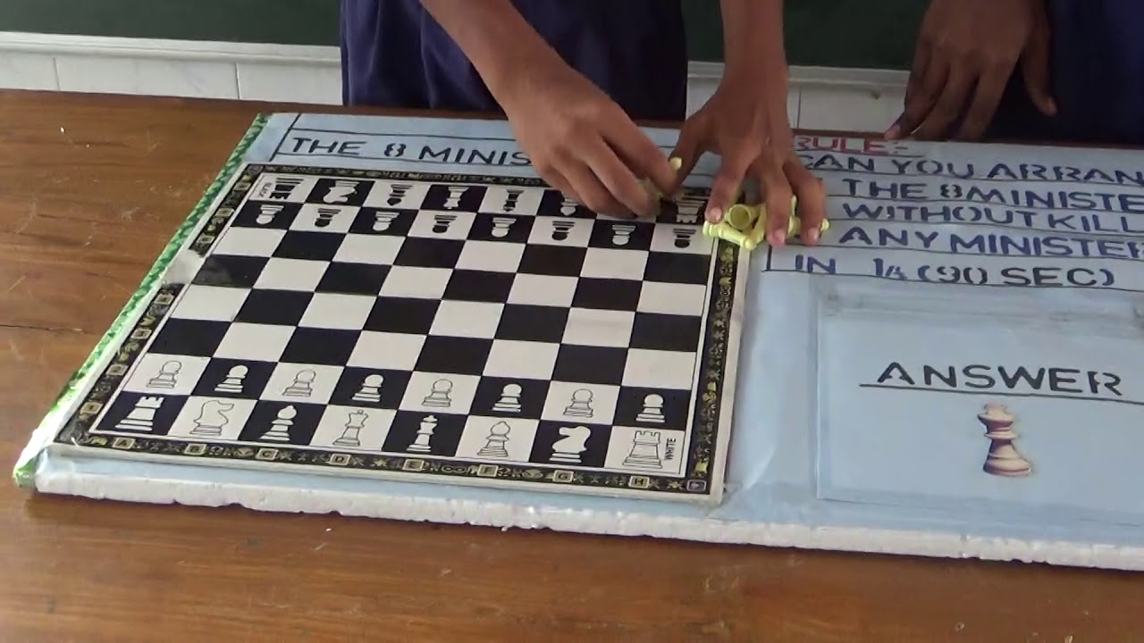 Arrange Eight Minister in chess board | Maths Project |