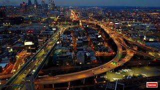4K UHD Screensaver Philadelphia Skyline At Night