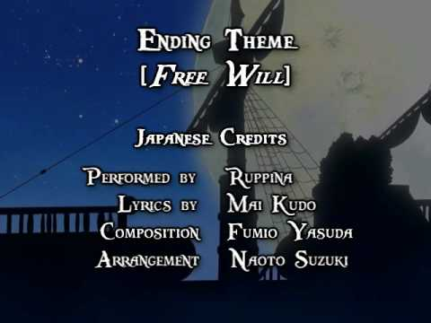 One Piece ED 09 - Free Will (FUNimation English Dub, Sung by Kristine Sa, Subtitled)