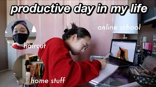 productive day in my life | online school, studying, & hair appt! Nicole Laeno