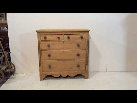 Large Early Victorian Pine Chest Of Drawers - Pinefinders Old Pine Furniture Warehouse