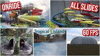 Tropical Islands - Alle Rutschen 2020 (Jungle Splash, Rutschenturm, Lagune, Amazonia) - Onride