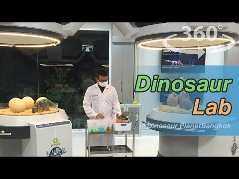 Dinosaur Lab in Dinosaur Planet Bangkok in Thailand VR | 360 Video