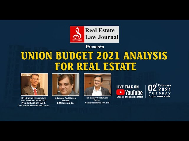 Union Budget 2021 Analysis for Real Estate