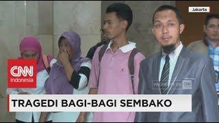 orang tua korban bagi bagi sembako laporkan ketua panitia acara