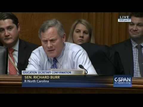 """Sen. Burr Thanks DeVos For Her Commitment To Education And """"For All The Kids Who Have Been Impacted"""""""