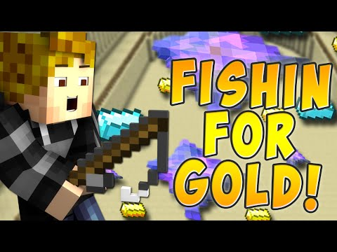 FISHING FOR GOLD! *FUN* Minecraft` Custom MINI GAME MAP!