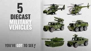 Top 10 Diecast Military Vehicles [2018]: Die-cast Military Vehicles,6 Pack Assorted Alloy Metal