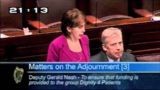 Deputy Ged Nash making his first speech in the Dáil