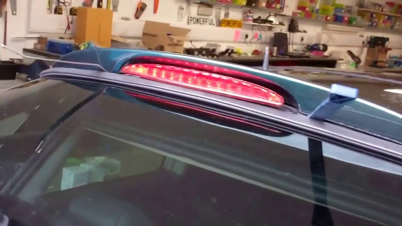 how to change the rear 3rd brake light on mini cooper with spoiler  [ 1280 x 720 Pixel ]