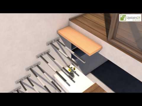 Escalier flottant / suspendu en Kit Sydney - www.upstairs24.fr